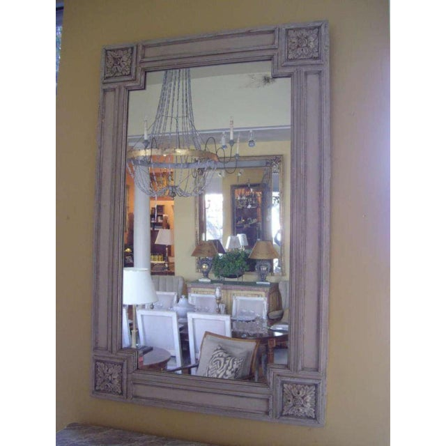 19th C. Italian Painted Church Frame Wall Mirror For Sale In New Orleans - Image 6 of 9