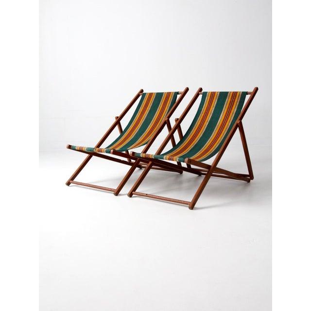 1940s Striped Deck Chairs A Pair Chairish