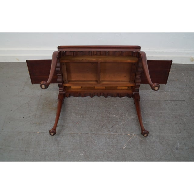 Henkel Harris Solid Cherry Queen Anne Tea Table - Image 8 of 10