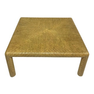 1970s Transitional Lacquered Grasscloth Coffee Table For Sale