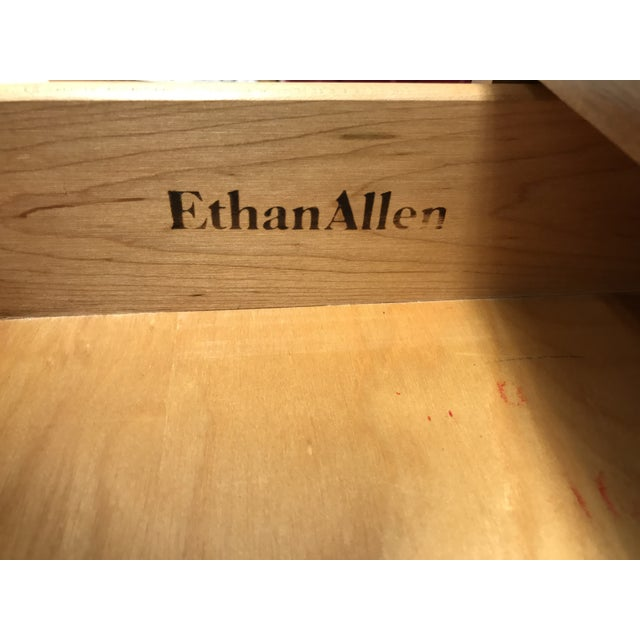 Ethan Allen Heirloom Nutmeg Desk & Chair For Sale - Image 9 of 11
