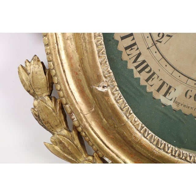 18th Century Antique French Louis XVI Period Giltwood Carved Barometer - Image 6 of 10
