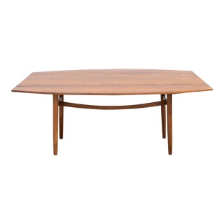 1960s Mid Century Modern Drexel Parallel Walnut Dining Table For Sale