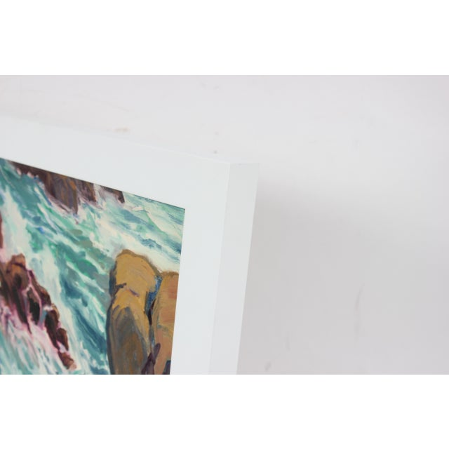 Carmel Seascape, Framed Oil Painting, Circa 1960s | Chairish