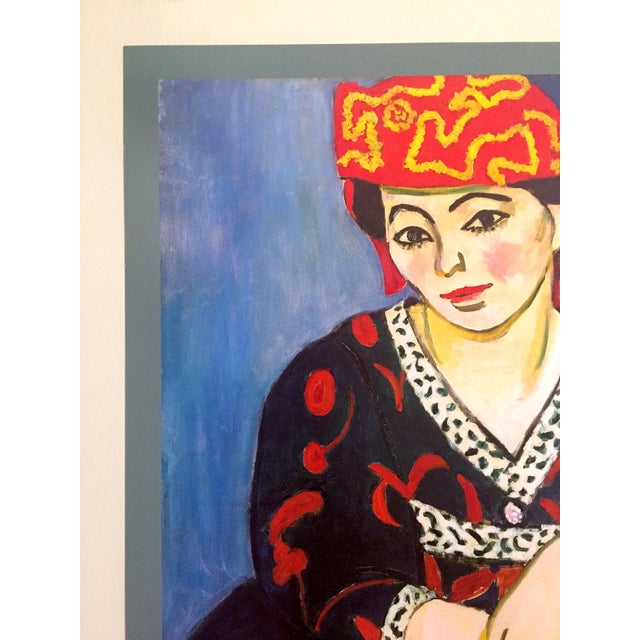 "Henri Matisse Henri Matisse Vintage 1991 Lithograph Print Museum Poster "" Madame Matisse Madras Rouge "" 1907 For Sale - Image 4 of 13"