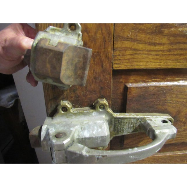 Vintage Oak Walk in Fridge Door Architectural Salvage For Sale - Image 10 of 10