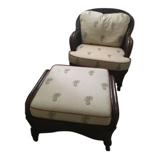 Lexington Casual Willow Chair and Ottoman