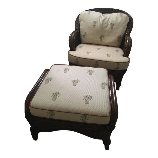 Lexington Casual Willow Chair and Ottoman - Image 1 of 8