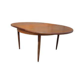 Vintage Danish Extendable Teak Oval Table by Kofod-Larsen For Sale