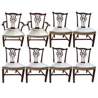 Baker Stately Home Mahogany Dining Chairs - Set of 8