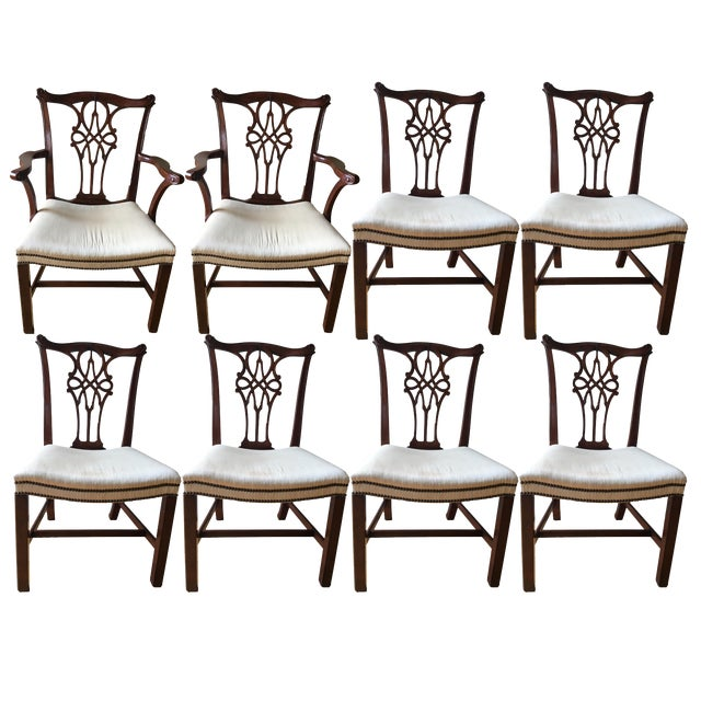 Baker Stately Home Mahogany Dining Chairs - Set of 8 Style 5244 & 5245, Excellent Condition! For Sale