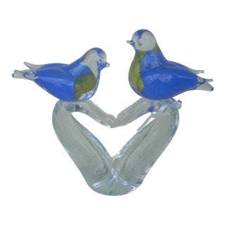 Perching Blue Birds Figurine For Sale