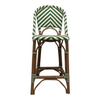 Modern Serena & Lily Chevron Riviera Counter Stool For Sale