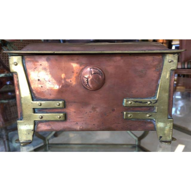Art Nouveau Copper Trinket Box Glasgow School
