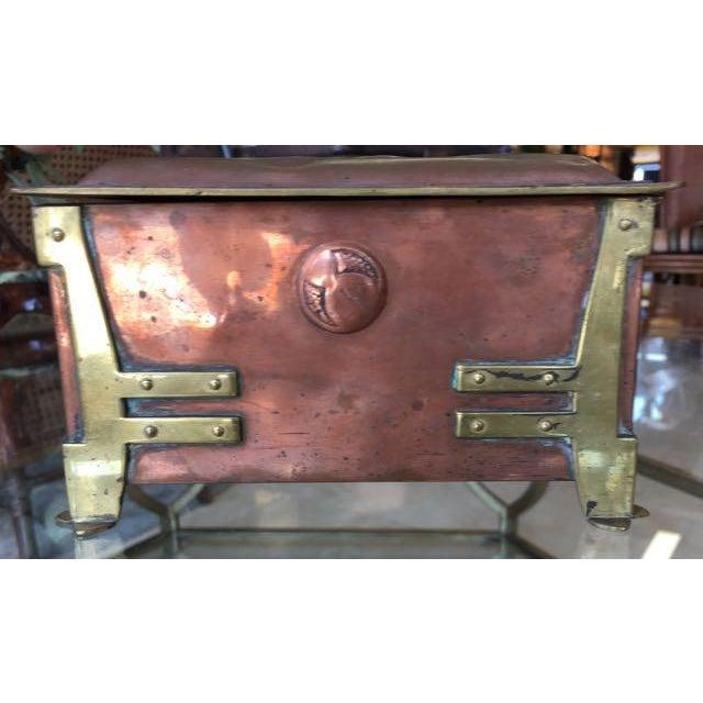 Charles Rennie Mackintosh Vienna Secessionist Copper Trinket Box For Sale - Image 4 of 11