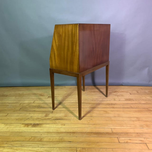 Felt Fritz Henningsen Mahogany Silverware Flip-Down Cabinet, 1970s For Sale - Image 7 of 9