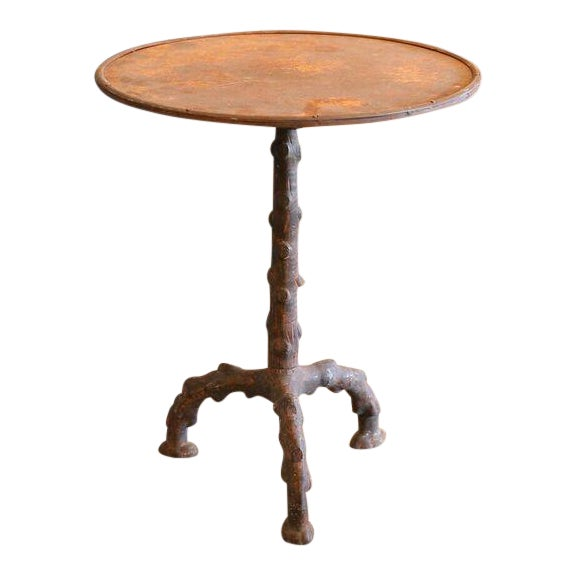Exceptional Faux Bois Gueridon Table Decaso