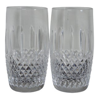 Waterford Crystal Glenmede Highball Water Juice Drink Glasses - a Pair For Sale