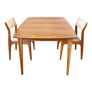 1960s Danish Modern Walnut 2-Seater Dining Set - 3 Pieces