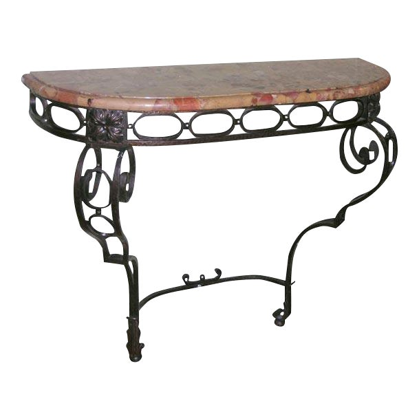 French Iron Console - Image 1 of 11
