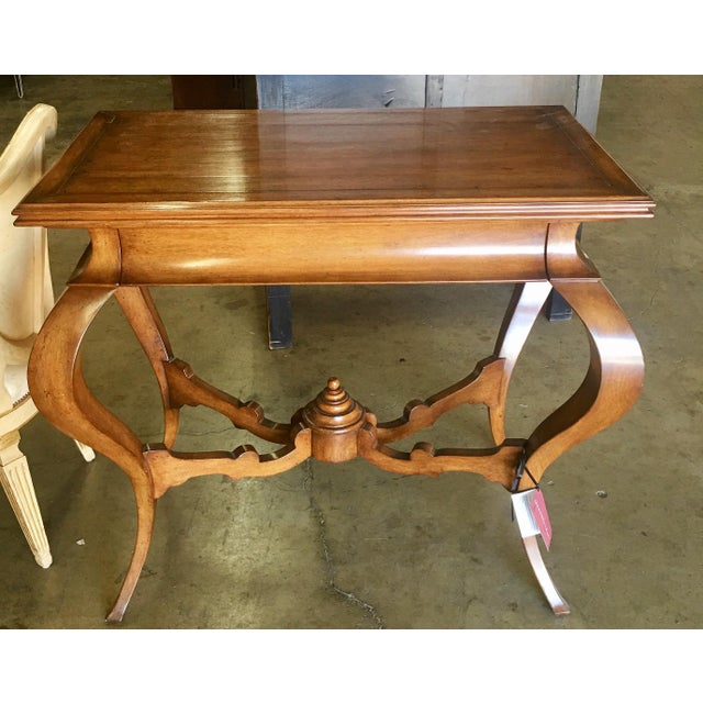 2000 - 2009 Walnut Venetian Console Table by Quadrus Studios For Sale - Image 5 of 5