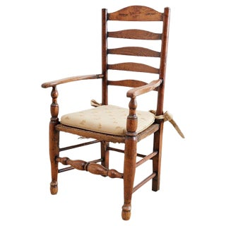 19th Century English Ladder Back Chair For Sale