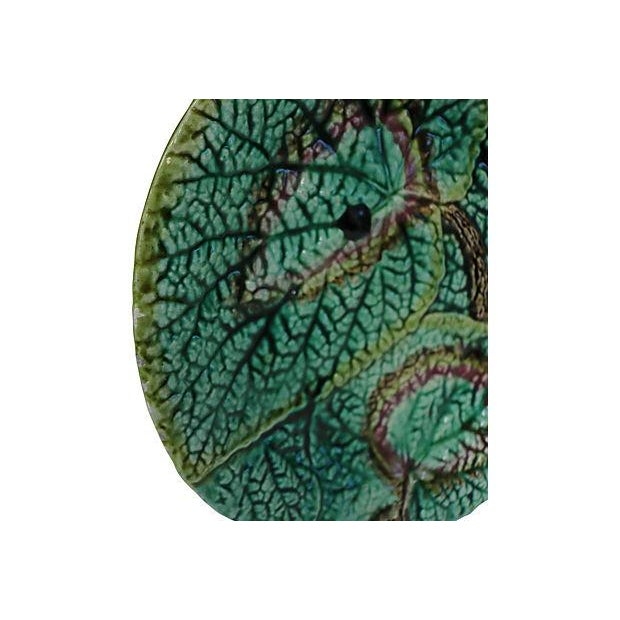 Antique English Majolica Wall Plate - Image 2 of 3