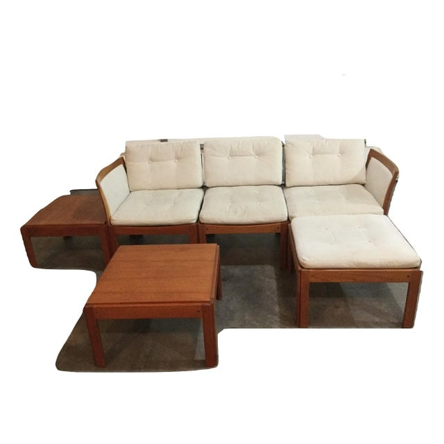 One-of-a-kind, collectible, 6 piece, teak furniture set (Plexus) by Illum Wikkelso, a contemporary of Arne Jacobson, Finn...