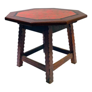1920's Folk Art Monterey-Style California Tile Side Table For Sale