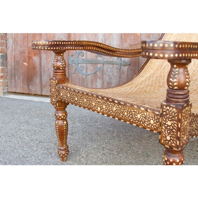 Wood Rare Plantation Inlaid Chair For Sale - Image 7 of 8