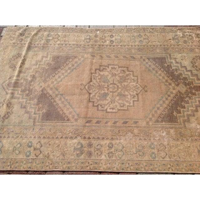 """Vintage Oushak Rug - 3'7"""" x 5'5"""" - Image 4 of 6"""