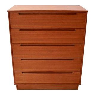 Danish Modern Teak Five-Drawer Tall Dresser by Nils Johnsson for Torring Møbelfabrik - 2 Available For Sale