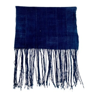 African Indigo Textile Runner/Throw For Sale
