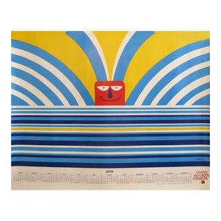 1979 Original Vittorio Fiorucci Poster, Centre Des Arts Visuels Calendar