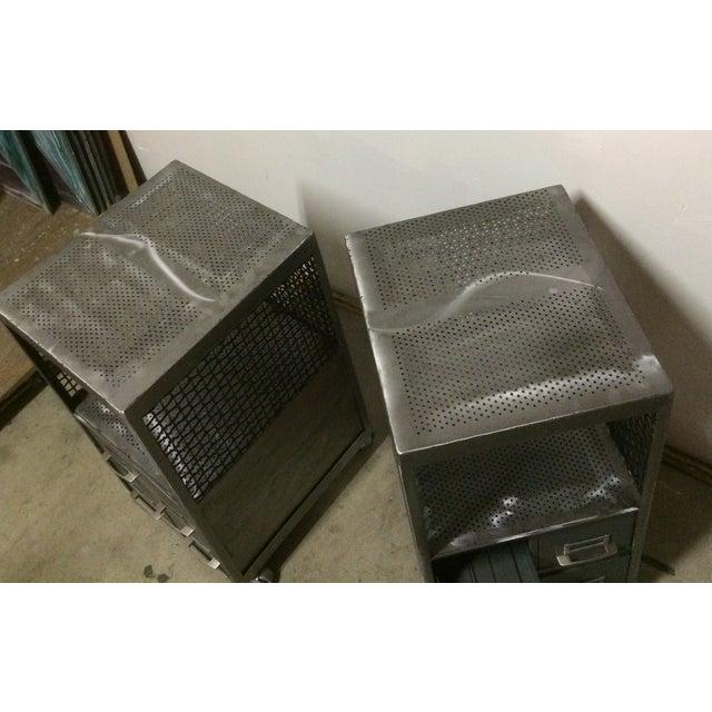 Repurposed Metal Industrial Tables - Pair - Image 5 of 7