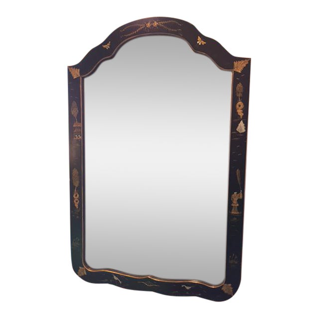 Chinoiserie Painted Vintage Mirror - Image 1 of 4