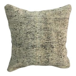 Nomadic Ethnic Turkish Handmade White and Black Sofa Kilim Pillow For Sale