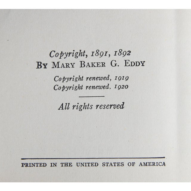 """1920s 1923 """"Mary Baker Eddy Boxed Set, S/5"""" Collectible Book For Sale - Image 5 of 6"""
