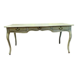 Antique Style Louis XV Style Hand Painted Bureau Desk For Sale