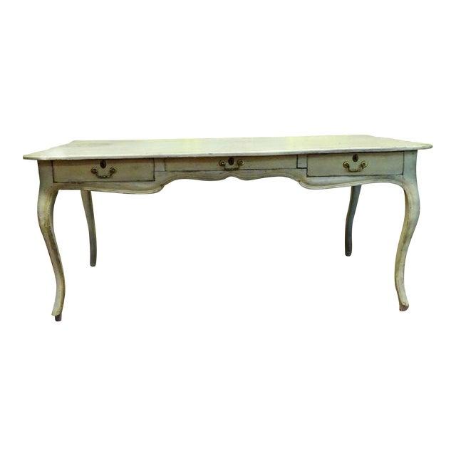 Antique Style Louis XV Style Hand Painted Bureau Desk For Sale