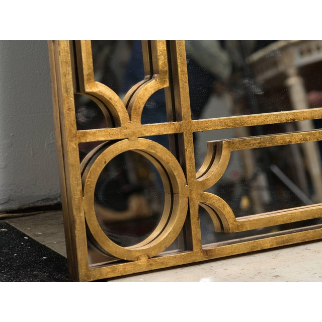 Early 21st Century Gilt Metal Mirror For Sale - Image 5 of 6