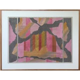Image of 1970s Vintage Fred Herschleb 'Break Up' Signed Original Mixed Media Abstract Collage For Sale