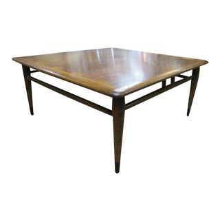 Vintage Mid Century Modern Lane Walnut Acclaim Square Coffee Table For Sale