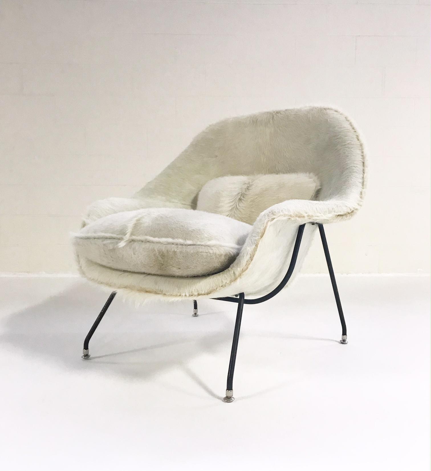 Forsyth Vintage Eero Saarinen Restored In Brazilian Cowhide Womb Chair    Image 9 Of 9