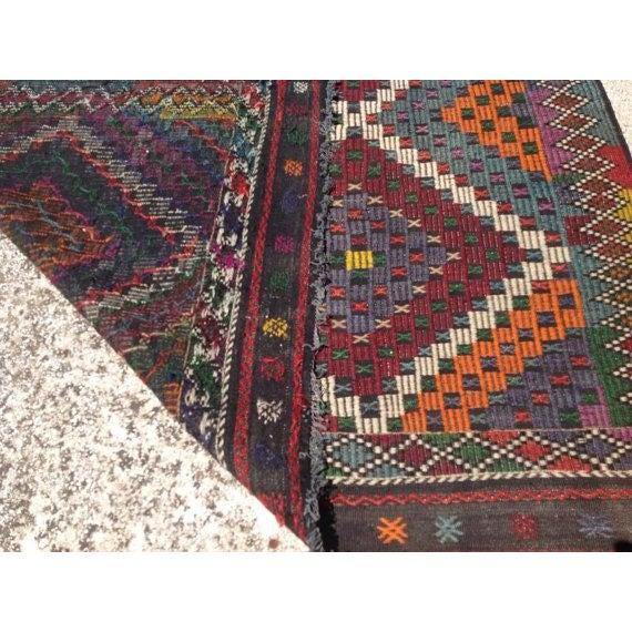 """Vintage Turkish Kilim Rug - 6'9"""" X 11'4"""" - Image 6 of 6"""