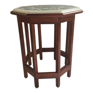 20th Century Pietra Dura Marble-Topped Octagonal Table For Sale