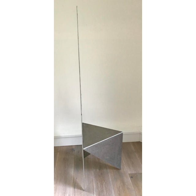 Abstract Cut Steel Architectural Chair For Sale - Image 3 of 4