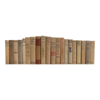 Vintage Burlap Sack Book Set - Set of 20 For Sale