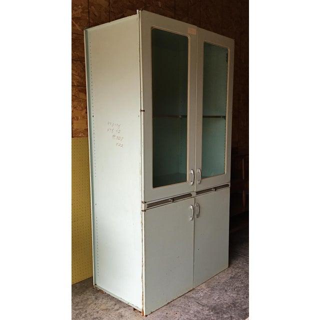 Industrial Vintage 60s Medical Cabinet For Sale - Image 3 of 9