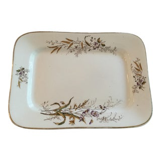 1920s Shabby Chic English Stoneware Platter For Sale